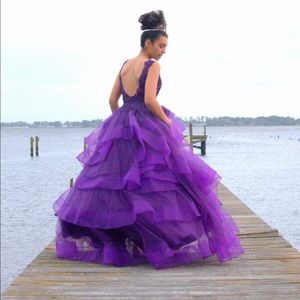 QUINCEAÑERA/SWEET 16/PROM PURPLE ELEGANT DRESS 4
